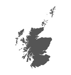 Scotland map black icon on white background vector
