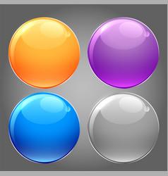 shiny glossy set circular buttons vector image