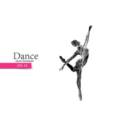 Silhouette of a dancing girl dancer woman vector