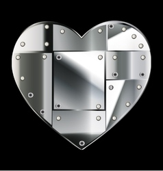 Steel heart vector