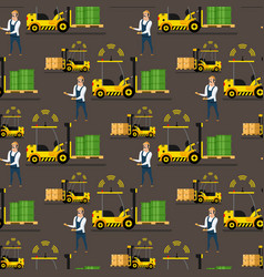 storage automatic loader delivery man pattern vector image