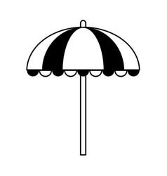 Striped parasol icon image vector