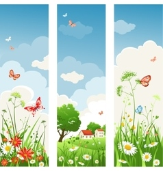 Summer day banners vector image