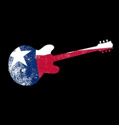 texan patriot flag guitar vector image