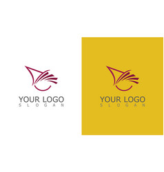 Triangle wing abstract logo vector