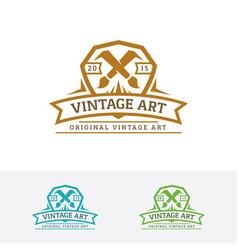 vintage art logo vector image
