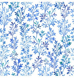 watercolor blue flora vector image