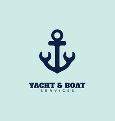 yacht service logo vector image