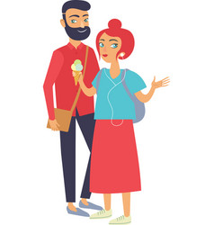 Young stylish hipster couple vector