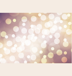 abstract white bokeh on purple yellow background vector image vector image