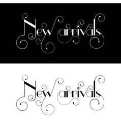 New arrival typography label design vector image vector image