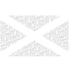 Scotland Text Flag vector image vector image