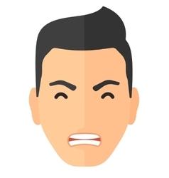 Screaming aggressive man vector image