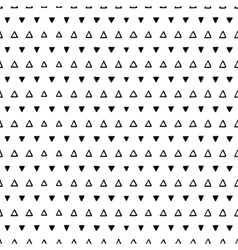Seamless scribble triangle pattern vector image vector image
