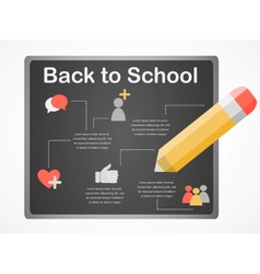 back to school board with social media icons vector image