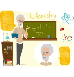 Back to school Chemistry vector image