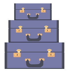 Luggage pile vector