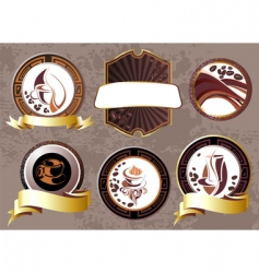 coffee break design elements vector image vector image