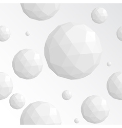 Abstract white sphere seamless pattern vector image vector image