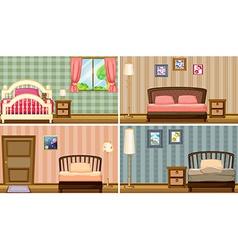 bedrooms vector image