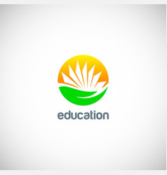 education knowledge book logo vector image vector image