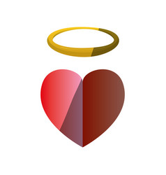 holy heart love vector image vector image