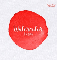 rainbow color watercolor paint stain vector image vector image