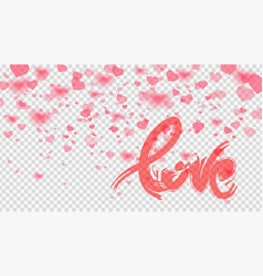 valentines day card template vector image vector image
