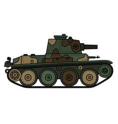 Vintage light tank vector