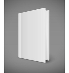 White book template with vector image vector image