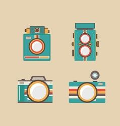 165vintage camera vector image