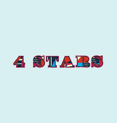 4 stars concept word art vector