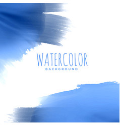 abstract blue watercolor texture background vector image