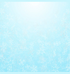 abstract of christmas festival snowflakes with vector image