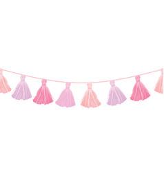 Bagirl pink hanging decorative tassels vector