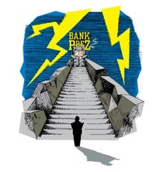Bank president vector