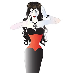 Beautiful goth woman vector image
