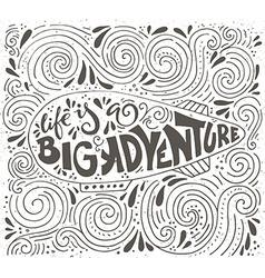 big adventure typography vector image