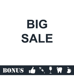 Big Sale offer text icon flat vector image