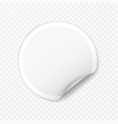 Blank round sticker with curled corners vector