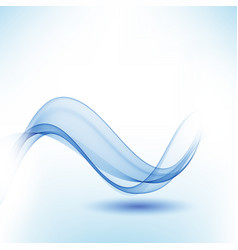Blue abstract background transparent waves vector