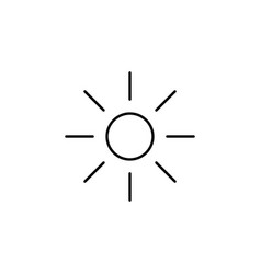 brightness sun outline icon signs and symbols can vector image