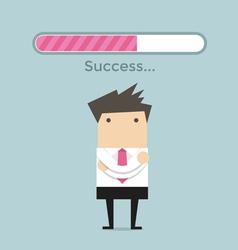 Businessman and success loading bar vector