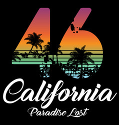 California miami summer t shirt graphic design vector