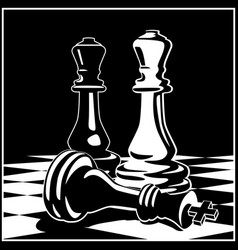 chess game concept and strategy vector image