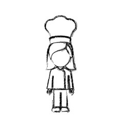 contour woman chef icon vector image