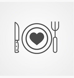 cutlery icon sign symbol vector image