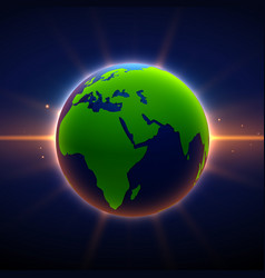 earth background with glowing light effect vector image
