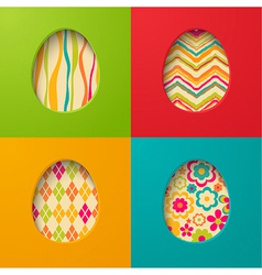 easter paper cards with egg vector image