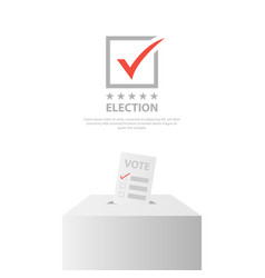 Election background design template isolated vector